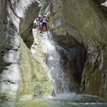 barranquisme avançat - guies la vall - outdoor
